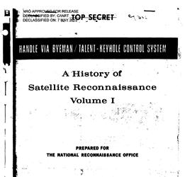 NRO History of Satellite Reconnaissance