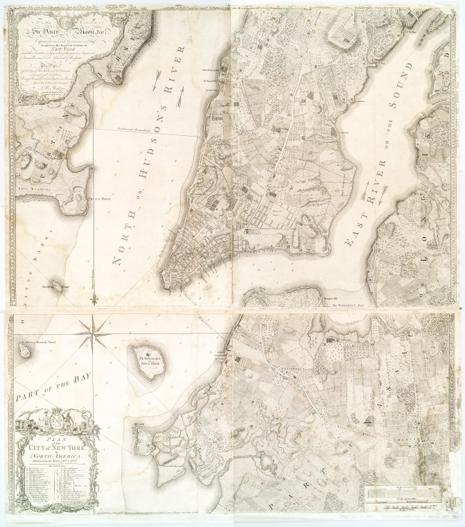 Plan of the city of New York, surveyed in 1766 and 1767