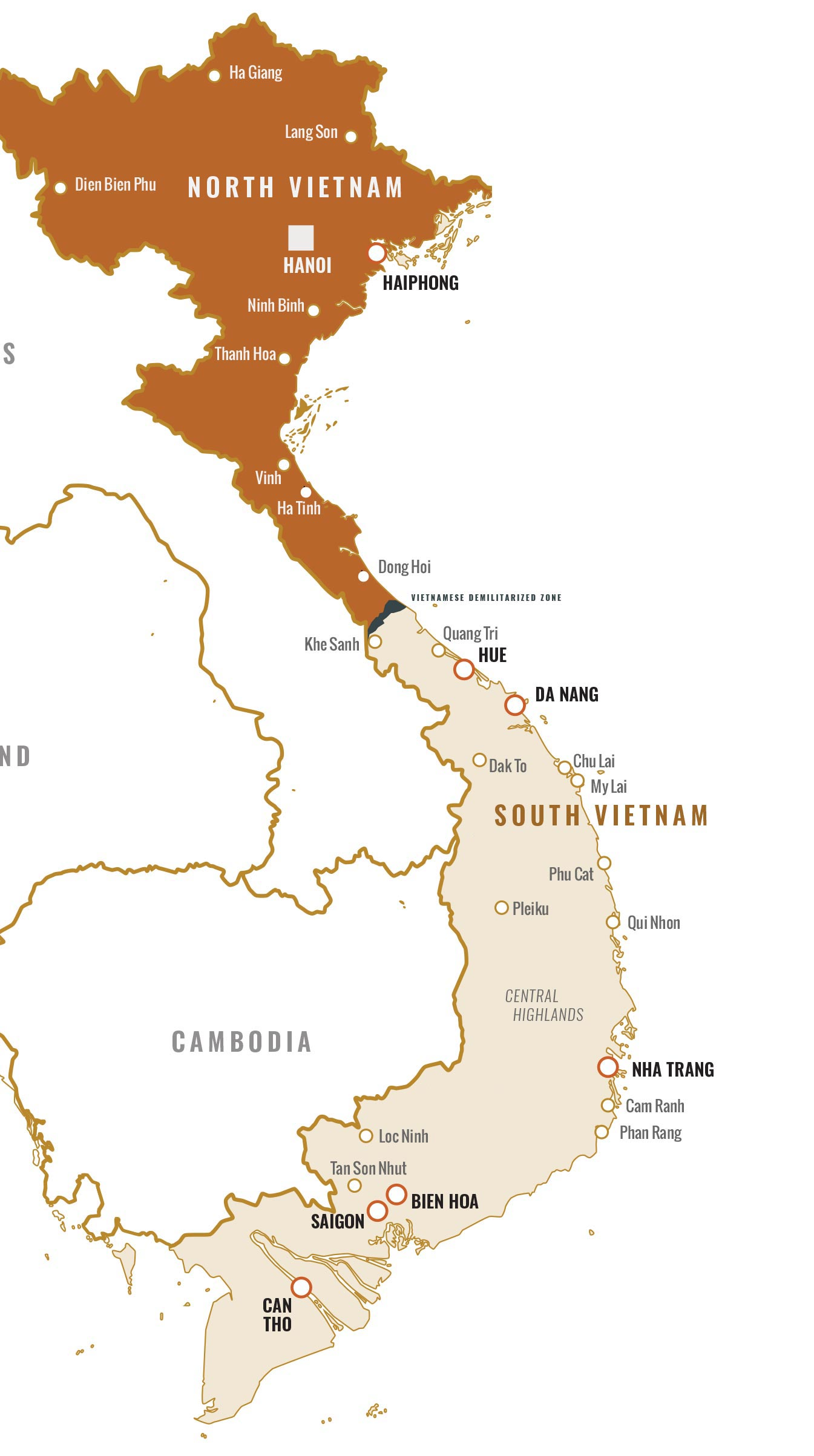 North Vietnam And South Vietnam Map.Tet Offensive At Fifty Intel Gov